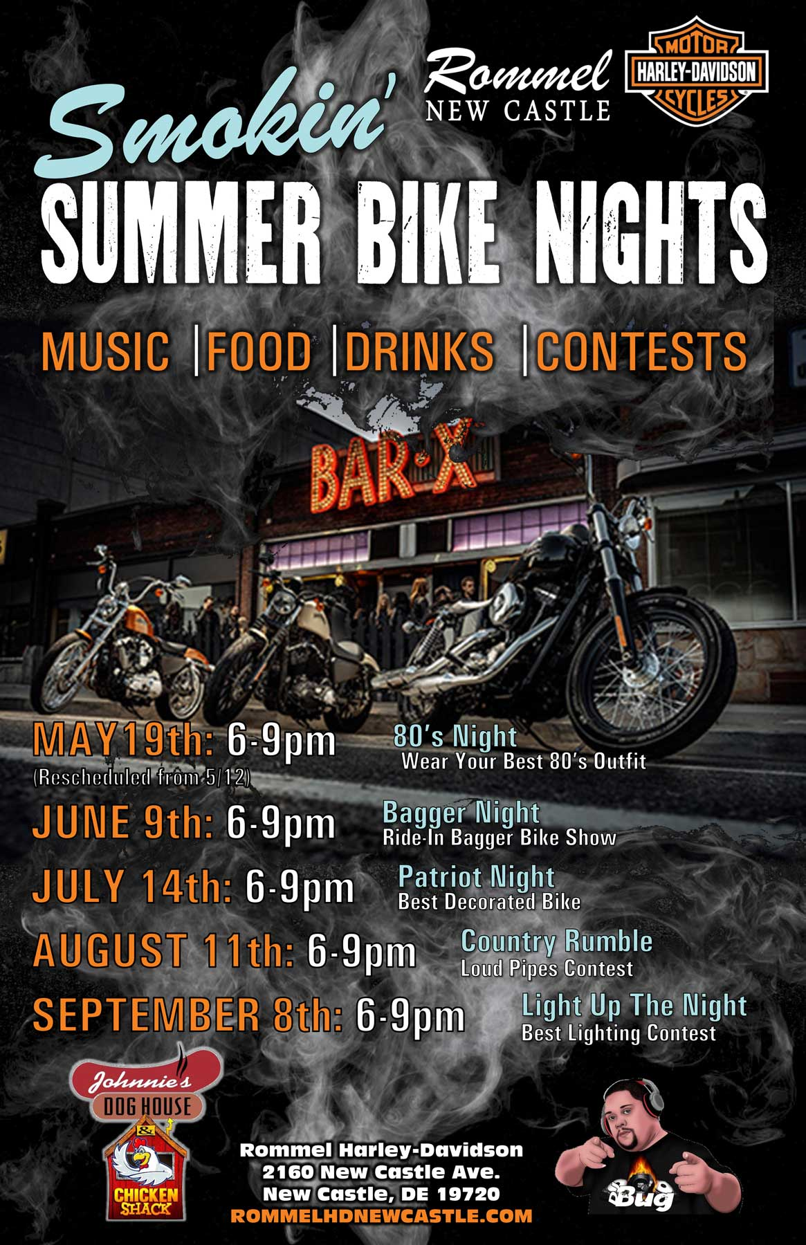 Smokin' Summer Bike Nights @ New Castle