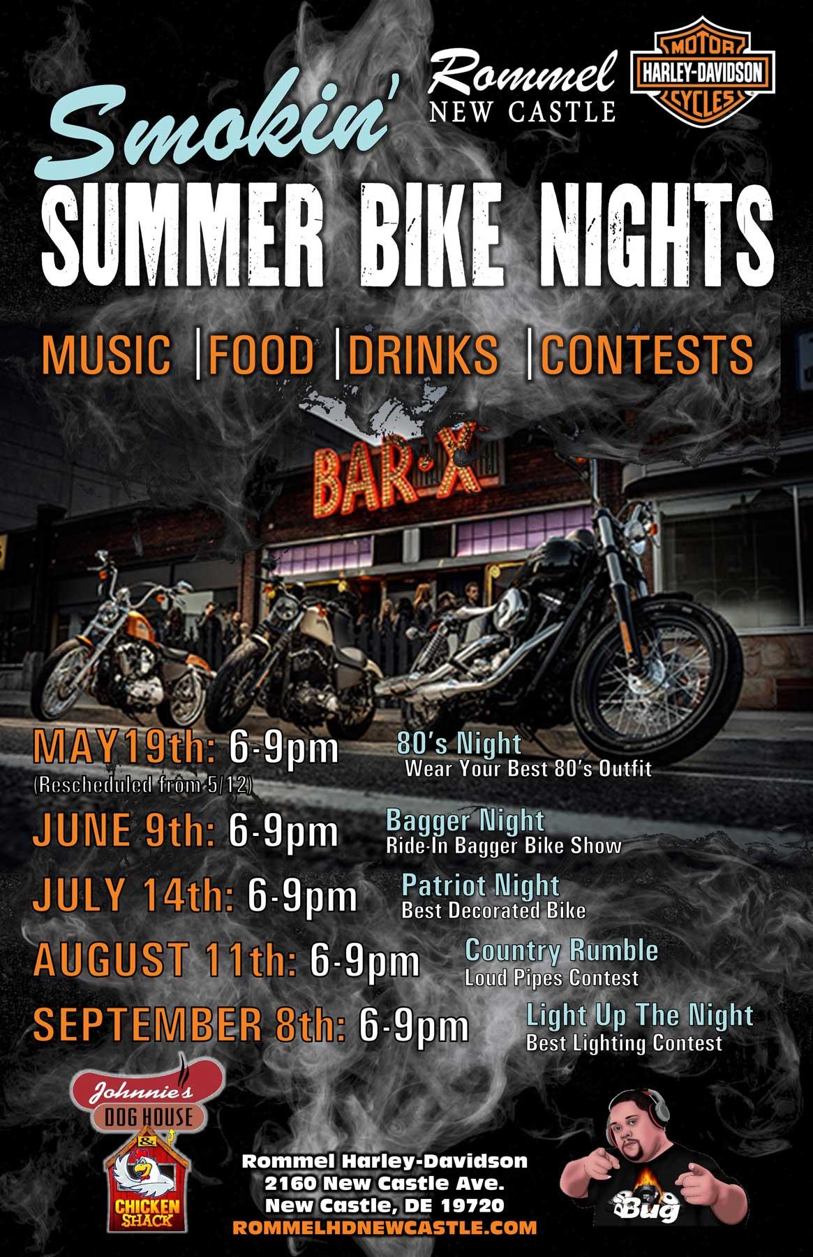 Smokin' Summer Bike Nights @ New Castle