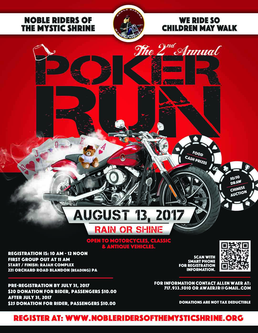 Noble Riders 2nd Annual Poker Run