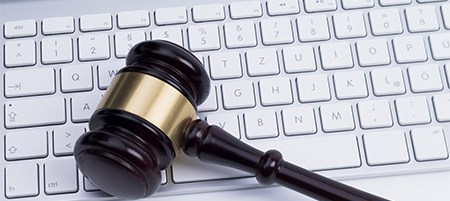 gavel and keyboard internet law