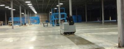 Parking Garage Cleaning-Power Scrubbing Floors