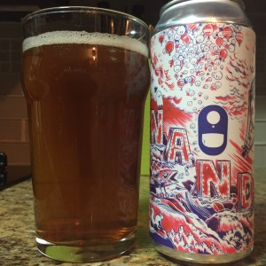Aeronaut Brewing Co. A Year with Nandu IPA poured into a nonic pint glass.