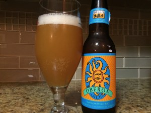 Bell's Oberon American Wheat Ale poured into nonic pint glass.