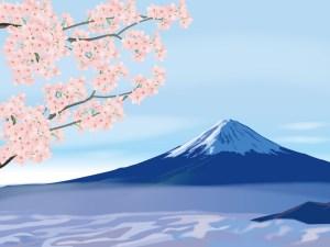 桜,富士山