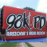 98 KUPD Radio Inflatable Billboard