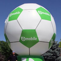 BMobile Soccer Ball Custom Inflatable
