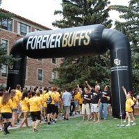 University of Colorado Inflatable arch welcomes new students!