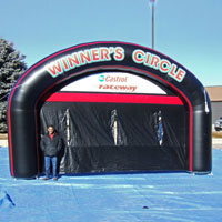 Castrol Winner's Circle Inflatable Arch Media Backdrop