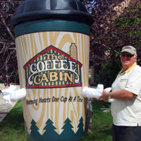 Coffee Cabin Inflatable Cup Costume