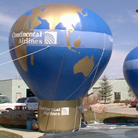 Rooftop Inflatable – Hot Air Balloon Shape