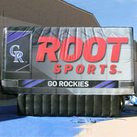 FSN Rockies Root Sports Inflatable Billboard