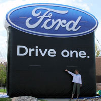 Ford Logo Inflatable Billboard