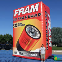 Fram Oil Filter Inflatable Billboard