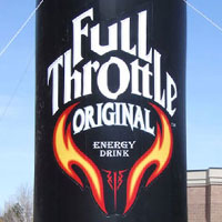 Full Throttle Energy Drink Can Inflatable