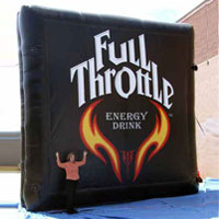 Full Throttle Inflatable Billboard