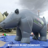 Mowhawk Rhino Inflatable Mascot