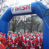 Santa Run Inflatable Arch