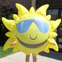 Sun Inflatable Costume