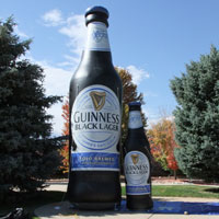 Guinness Black Lager Inflatable Bottle