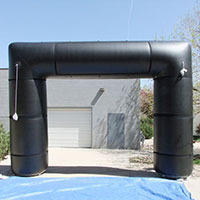 Black 90 Velcro Inflatable Arch