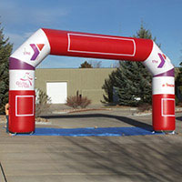 YMCA Girls on the Run Stride 45 Inflatable Arch