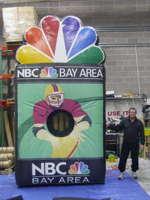 NBC Peacock Football Toss