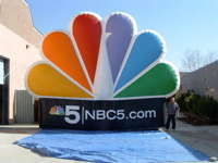 Inflatable NBC Peacock