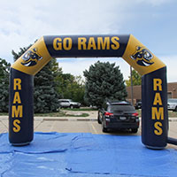 Go Rams Inflatable Arch