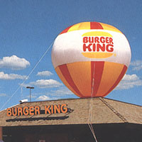 Burger King Hot Air Balloon Shape