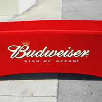Budweiser Table Cover
