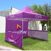 Digicel Play Pop Up Tent Banner and Backdrop