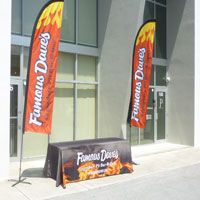 Famous Dave's Table Cover and Banners