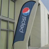 Pepsi Bow Flag Banner