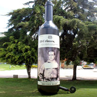 19 Crimes Inflatable Wine Bottle