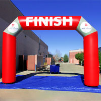 City of Lancaster Red Rose Run Inflatable Arch