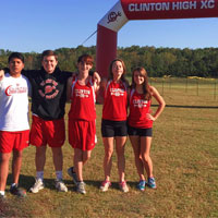 Clinton High XC Inflatable Arch