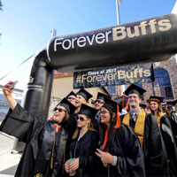 Forever Buffs Graduation Arch