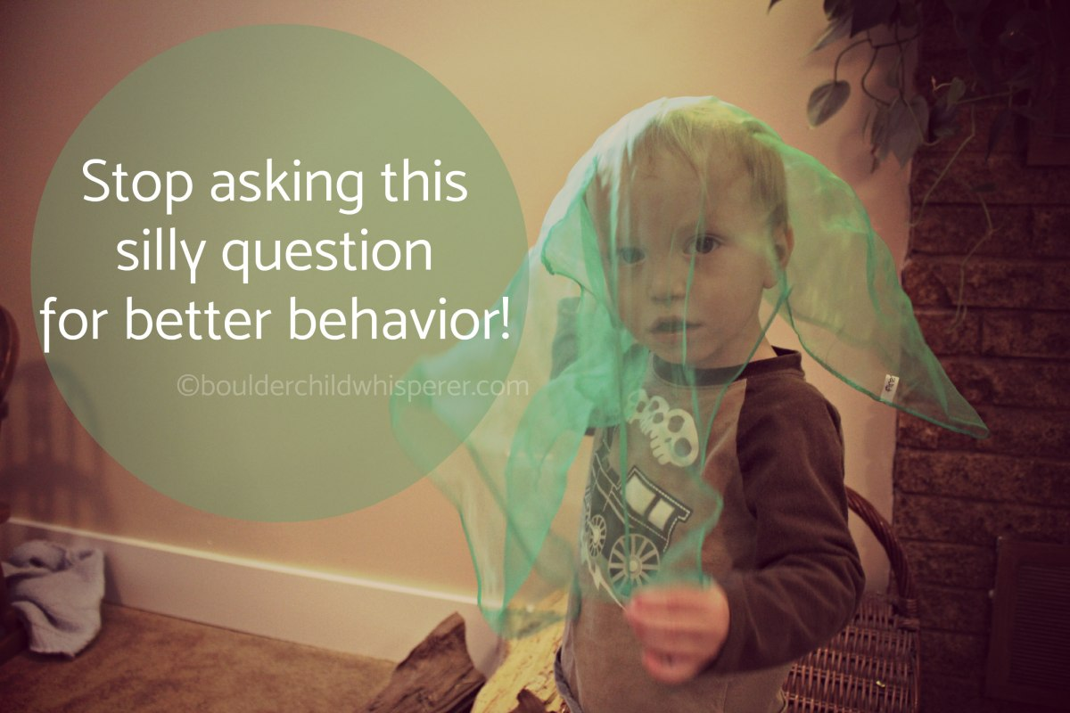Stop asking this silly question for better behavior