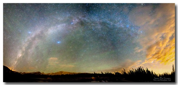 Colorado Indian Peaks Wilderness Milky Way Panorama