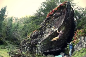 Fred Nicole bouldering in Switzerland