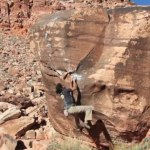 Les Van Exel at Red Rocks – sending Big K V8