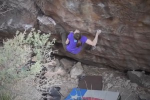 Emily Dudley climbs Animal Acts V5 and Sex After Death V8