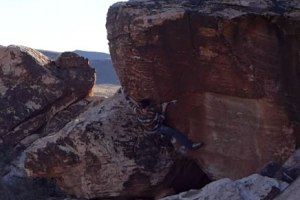 Las Vegas Bouldering: A morning session at the Kraft Boulders