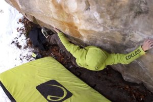 "Pirmin Bertle sending ""Roots in the Basement"" 8A+ & more!"