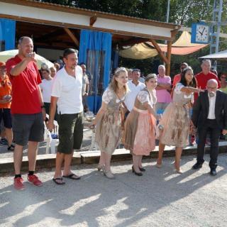 Winzerfest-Turnier, Boule-Freunde, Wiesloch, Eröffnung, Weinhoheiten