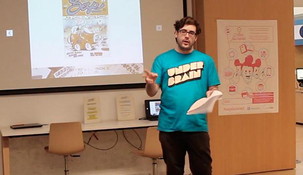 Durante la charla en Atom Fast Market 3