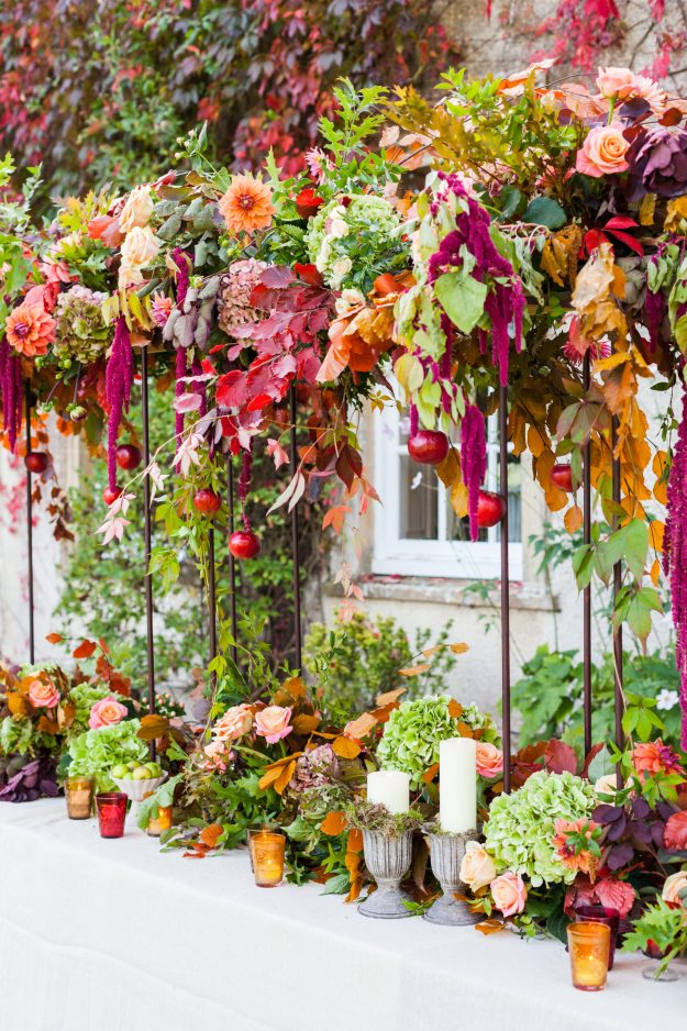Gathered Style, Darker Pastels, Floral Canopy - Bloom Room Studio LTD - Autumnal Canopy - Photo Credit Katie Spicer