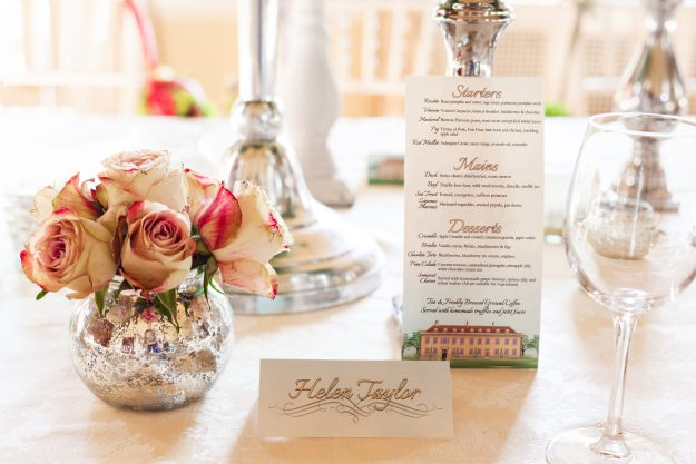 Metallics - Bloom Room Studio LTD - Floral Place Settings - Photo Credit Katie Spicer