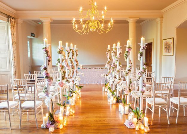 Metallics & Floral Alternatives - Bloom Room Studio LTD - Floral Aisle - Photo Credit Katie Spicer