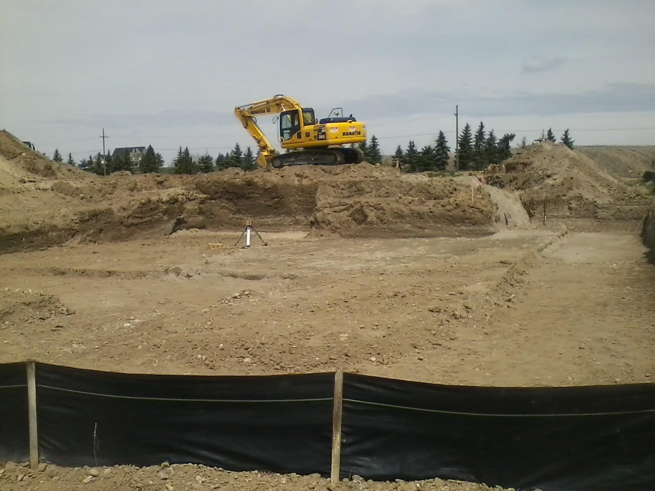 basement excavation pre footing